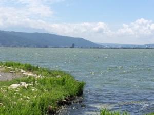 諏訪湖 岡谷