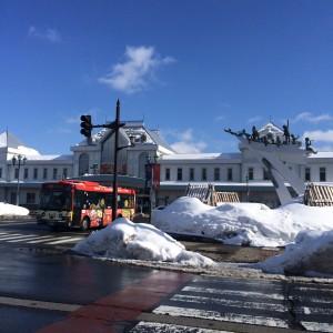 米沢駅舎 バス