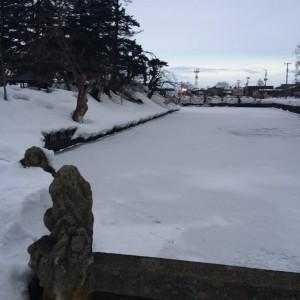 米沢城 お堀