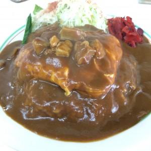 高田駅 カレー オムレツ