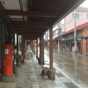 飯山駅 雁木