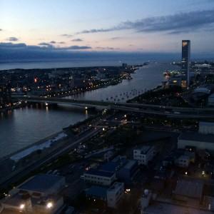 新潟メディアシップ 夜景