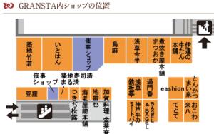 グランスタ地図 東京駅