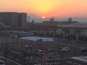ららぽーと立川立飛 富士山が見える