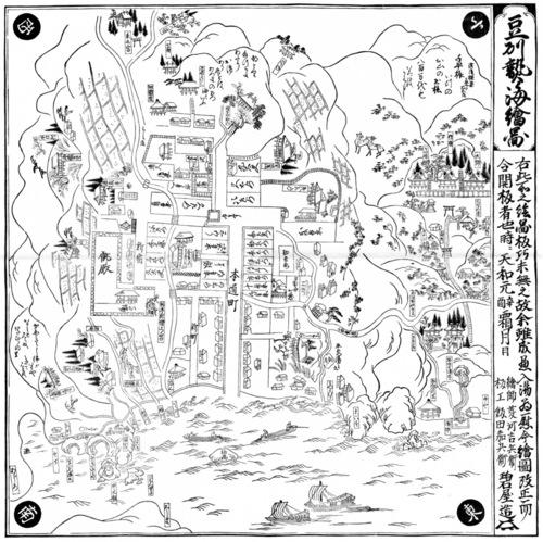 豆州熱海絵図という古地図