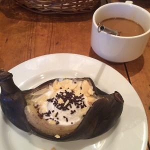 ビストロひつじや 焼きバナナ
