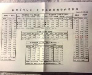 身延山 バス 時刻表