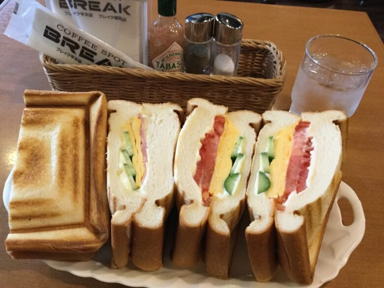 【アド街で登場?】いわきの喫茶店ブレイクの巨大サンドイッチメニューとテイクアウト