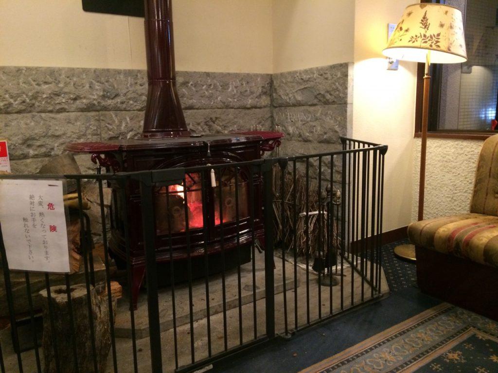 長野第一ホテル 暖炉