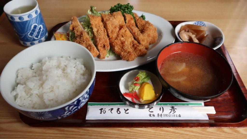 とりかつ定食(1250円)