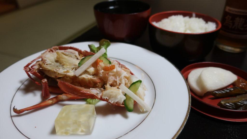 弥彦温泉  だいろくの海老料理