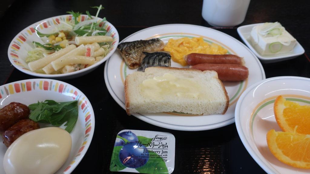 パークイン高崎の朝食バイキング