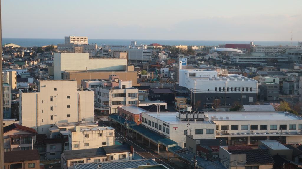ホテルニューグリーン柏崎からの景色