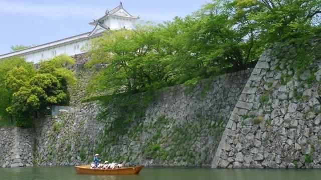 姫路城と和船