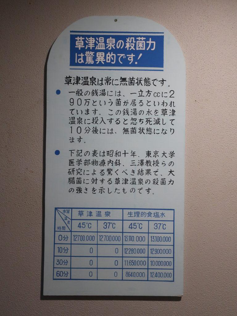草津温泉の殺菌力