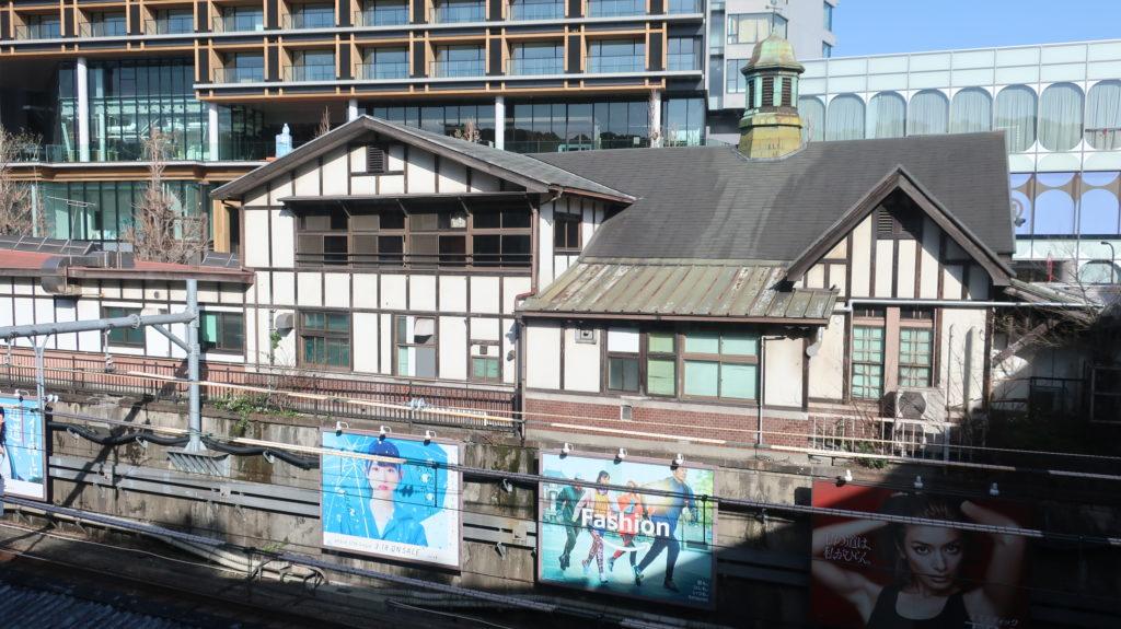 原宿駅新駅舎に残る旧駅舎
