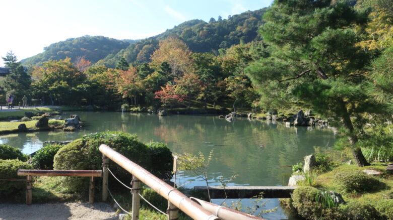 天龍寺の曹源池庭園