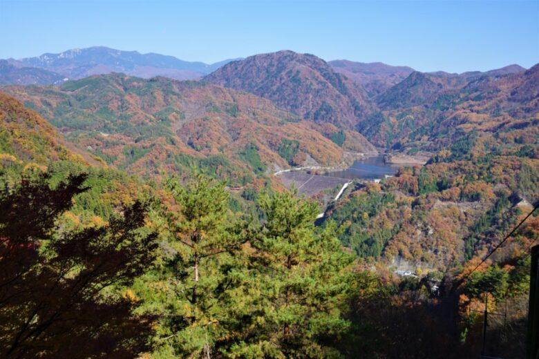 昇仙峡ロープウェイ 山頂駅 景色