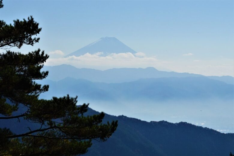 昇仙峡ロープウェイ 富士山