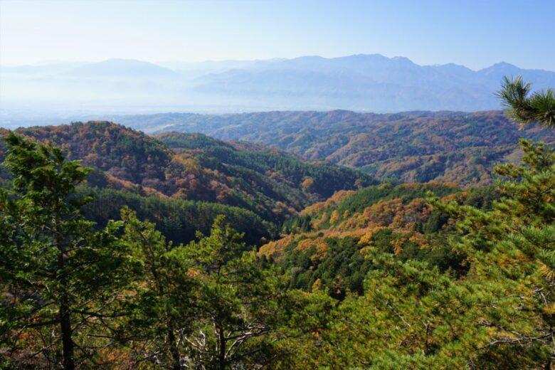 昇仙峡ロープウェイの山頂駅(パノラマ台駅 景色