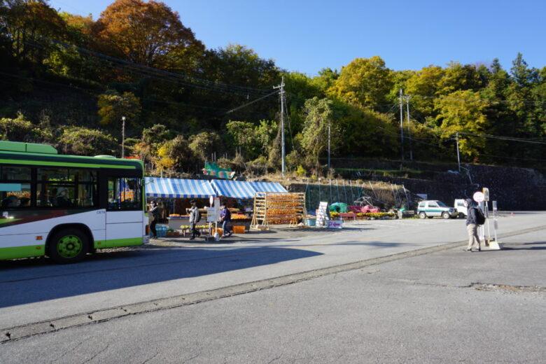 昇仙峡口バス停 何もない