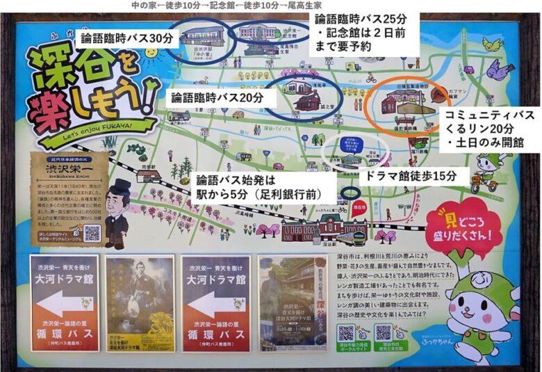 深谷 電車・バス マップ