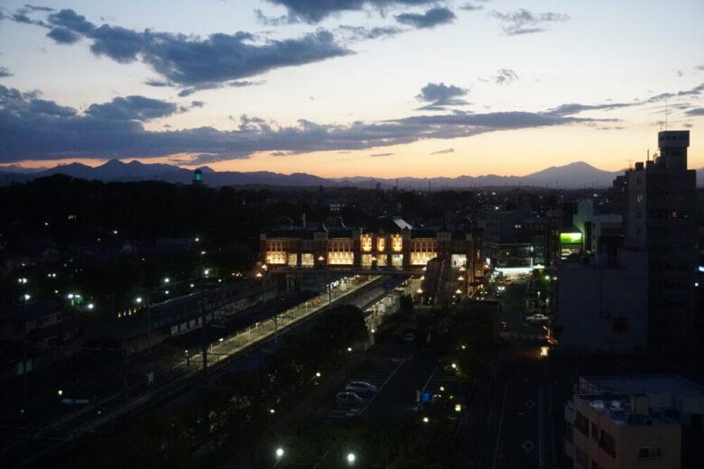 深谷駅 夜景