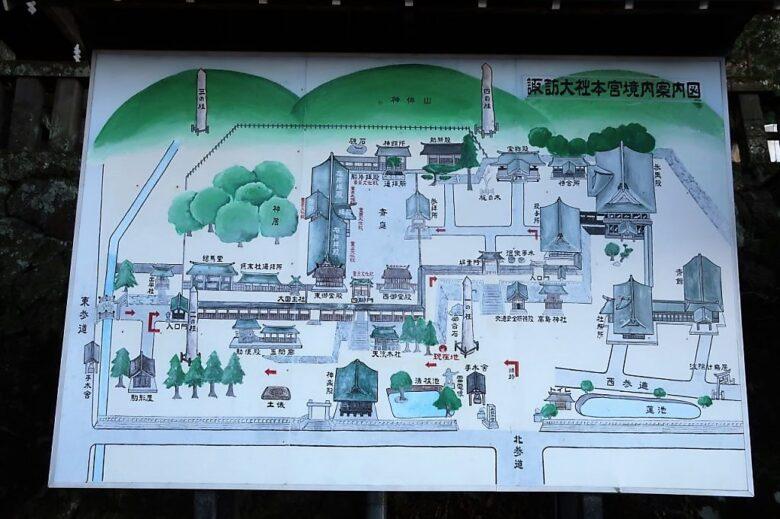 諏訪大社 上社本宮 境内地図