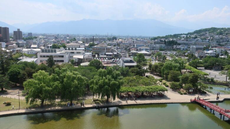 松本城の天守からの風景