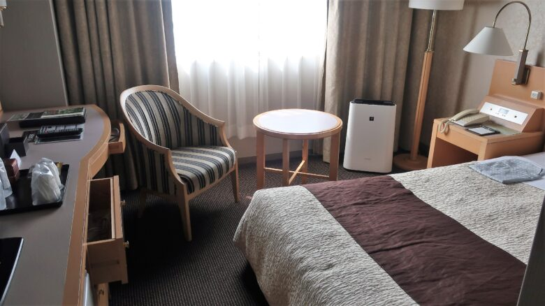 沼津リバーサイドホテル 部屋 市街地(富士山)側
