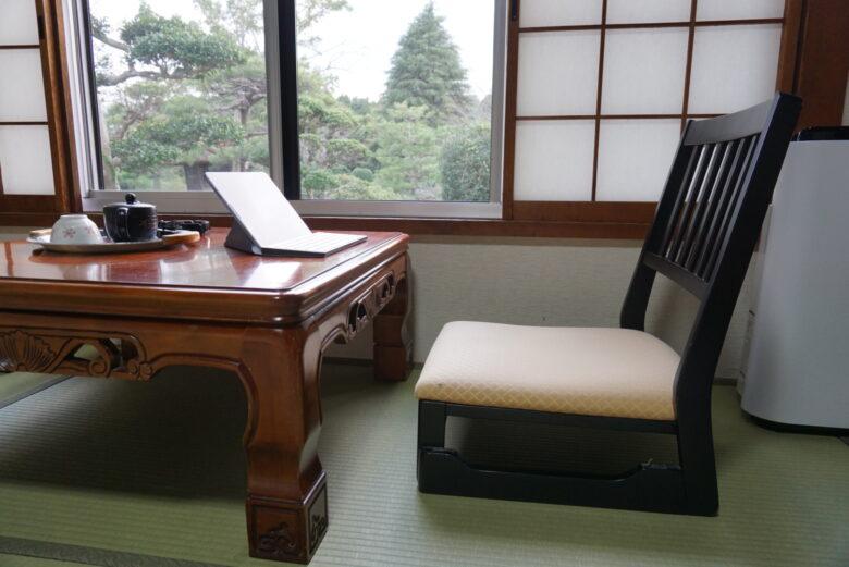内原鉱泉 湯泉荘 机 椅子