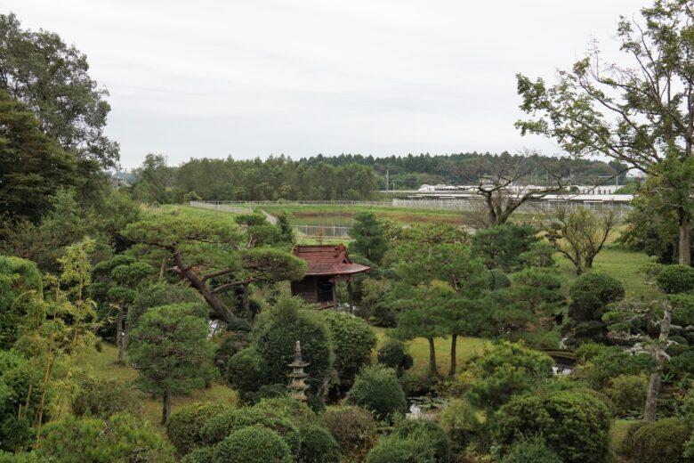 内原鉱泉 湯泉荘 中庭