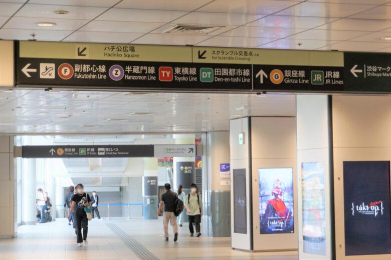 渋谷駅の鉄道路線